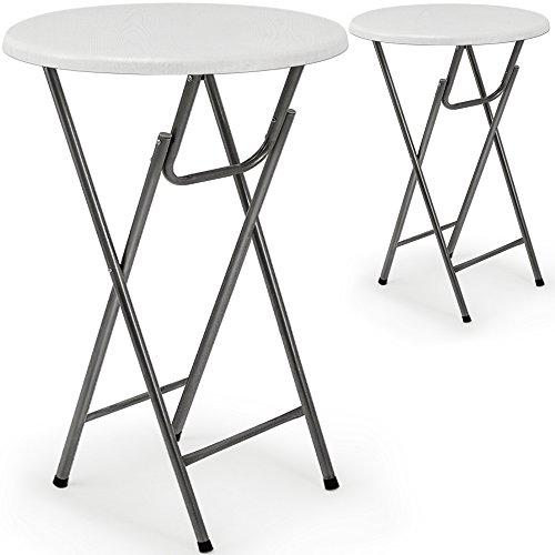ᐅ 2 X Stehtisch Tisch Gartentisch Klappbar Klapptisch Bistrotisch