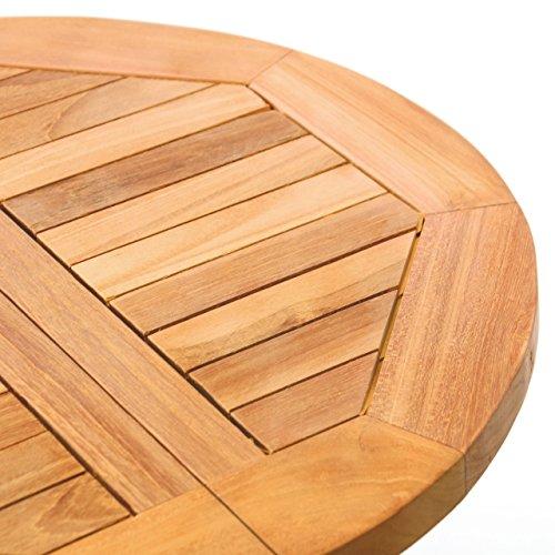 ᐅ Divero Kindertisch Gartentisch Balkontisch Beistelltisch Holz