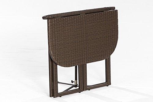 Klapptisch balkon kunststoff  ᐅ Balkon - Klapptisch GRAZ 90x50cm, Stahlgestell + Polyrattan ...