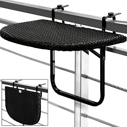 balkontisch h ngetisch polyrattan klapptisch balkon tisch rattan klapptisch. Black Bedroom Furniture Sets. Home Design Ideas
