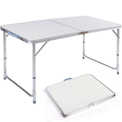 dxp campingtisch aus aluminium gartentisch h henverstellbarer klapptisch. Black Bedroom Furniture Sets. Home Design Ideas
