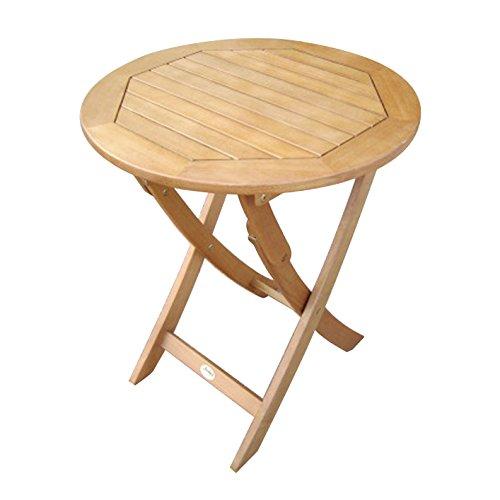 klapptisch 60 cm rund f r garten und balkon aus eukalyptus hartholz ge lt klapptisch. Black Bedroom Furniture Sets. Home Design Ideas