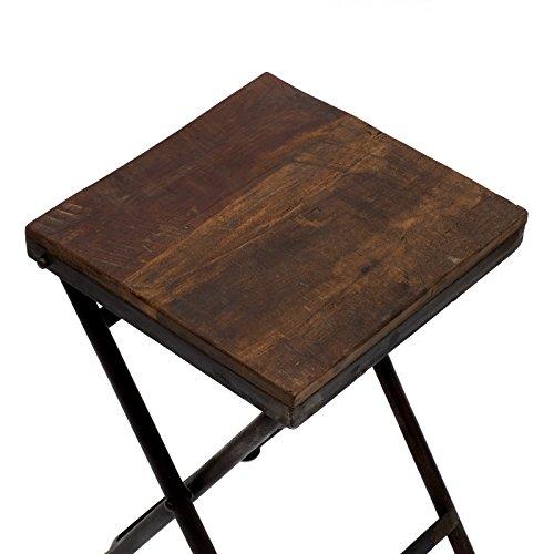 Klapptisch Beistelltisch.Klapptisch Beistelltisch Hocker Holz Eisen