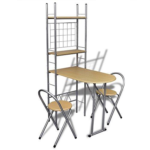 ᐅ Meloo Küchentisch + 2 Stühle Theke klappbar Klapptisch ...
