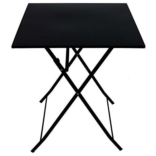 Metall klapptisch 60x60cm schwarz beistelltisch for Beistelltisch zum klappen