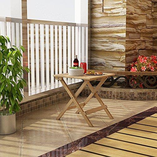 songmics beistelltisch klapptisch aus bambus klapptisch. Black Bedroom Furniture Sets. Home Design Ideas