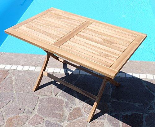 Holztisch Gartentisch.Teak Klapptisch Holztisch Gartentisch Garten Tisch 120x70cm Aves Holz Von As S