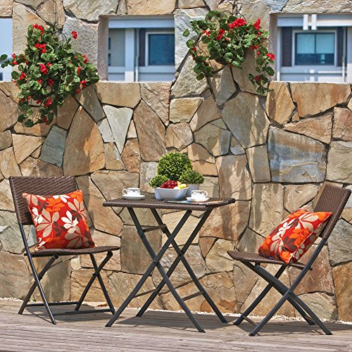 terrasse balkonm bel faltbare bistro m bel sets holz harz und rattan klapptisch. Black Bedroom Furniture Sets. Home Design Ideas
