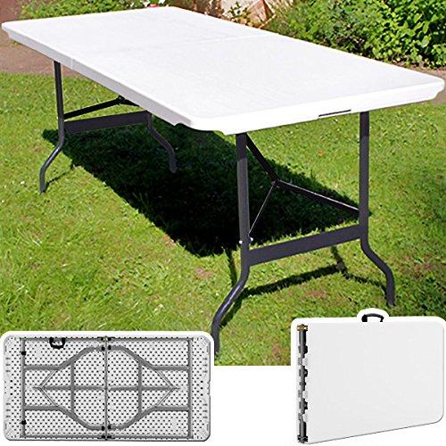 Tisch Klappbar Weiß.Tisch Klappbar Kunststoff Weiß 74 180 Cm Partytisch Buffettisch Klapptisch